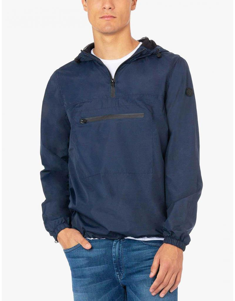 Impermeable Tiffosi Wind azul capucha - Imagen 1
