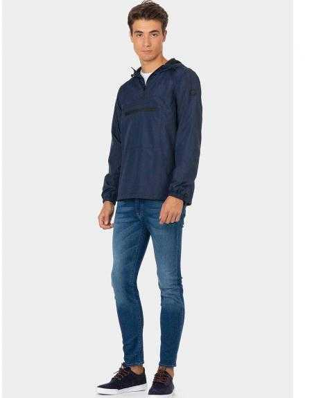 Impermeable Tiffosi Wind azul capucha - Imagen 2