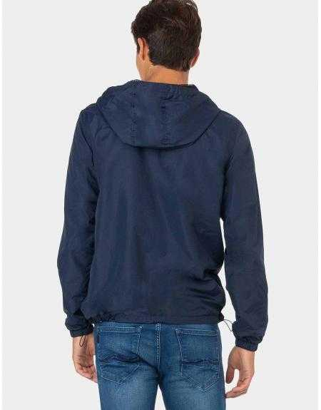 Impermeable Tiffosi Wind azul capucha - Imagen 3
