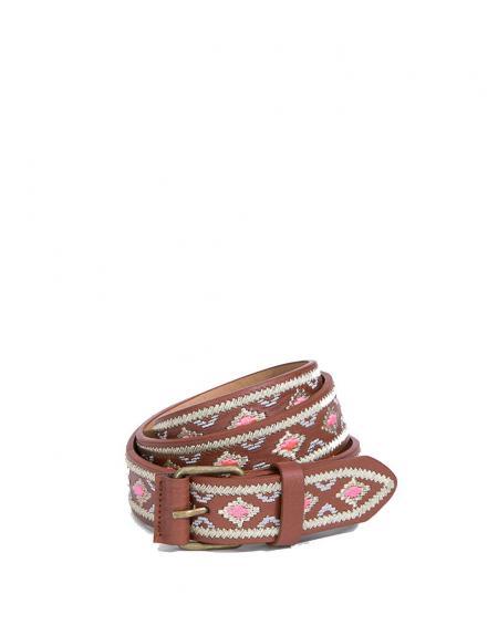 Cinturón Tiffosi Coco con bordados - Imagen 1