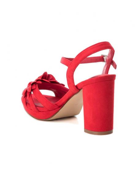 Sandalia tacón Xti ancho ante rojo fiesta - Imagen 3