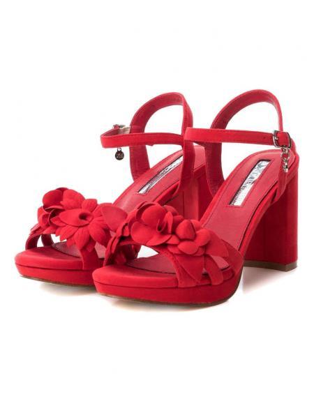 Sandalia tacón Xti ancho ante rojo fiesta - Imagen 5