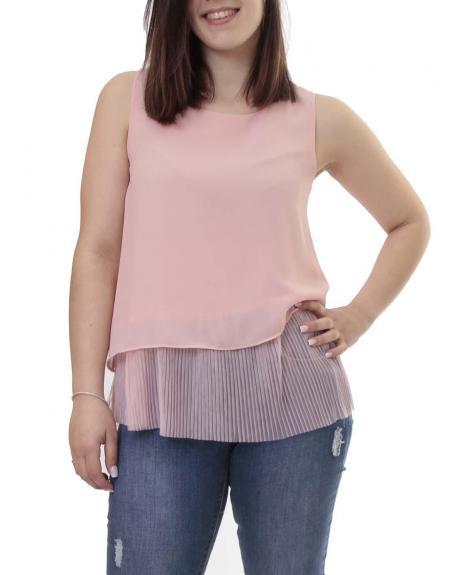 Blusa rosa pliegues m.sisa - Imagen 1