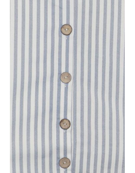 Top blanco rayas Bydena con botones - Imagen 2