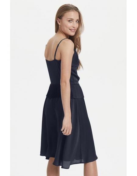 Vestido corto Ichi marino pliegues - Imagen 4
