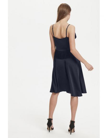Vestido corto Ichi marino pliegues - Imagen 5