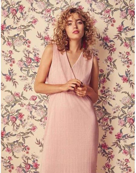 Vestido largo Byoung rosa Shanna - Imagen 1