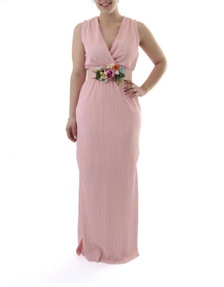 Vestido largo Byoung rosa Shanna - Imagen 2