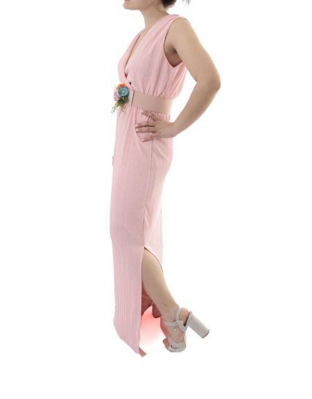 Vestido largo Byoung rosa Shanna - Imagen 3