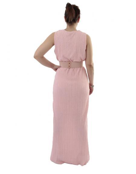 Vestido largo Byoung rosa Shanna - Imagen 4
