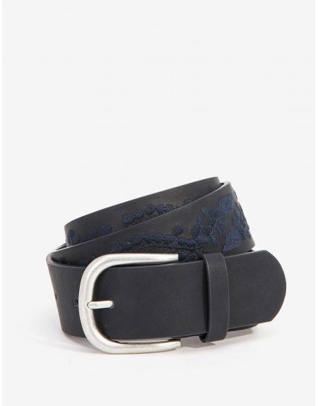 Cinturón Tiffosi Frank azul marino dibujado - Imagen 1
