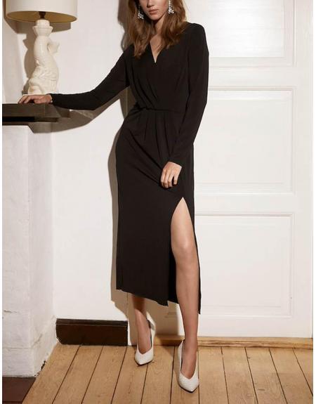 Vestido Ichi Ihxilvia negro pico - Imagen 1