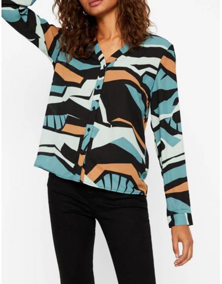 Camisa VMAfina L/S shirt estampado multicolor - Imagen 1