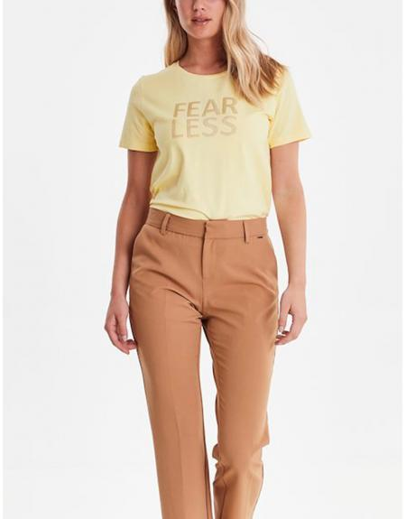 Camiseta manga corta amarillo Byoung Bypandina flock para mujer - Imagen 1