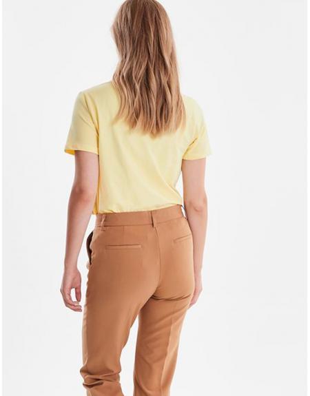 Camiseta manga corta amarillo Byoung Bypandina flock para mujer - Imagen 2