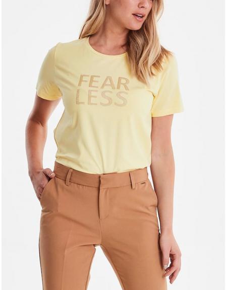 Camiseta manga corta amarillo Byoung Bypandina flock para mujer - Imagen 3
