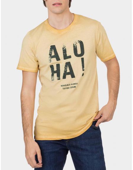 Camiseta Chanute Aloha amarilla Tiffosi para hombre - Imagen 1