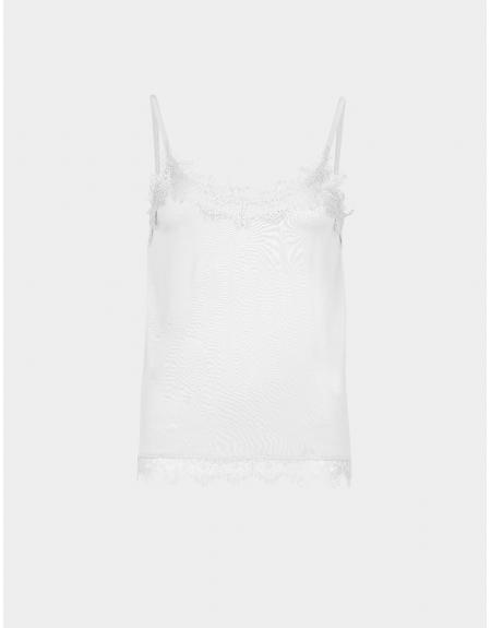 Camiseta lencera blanca Tiffosi Clara para mujer - Imagen 1