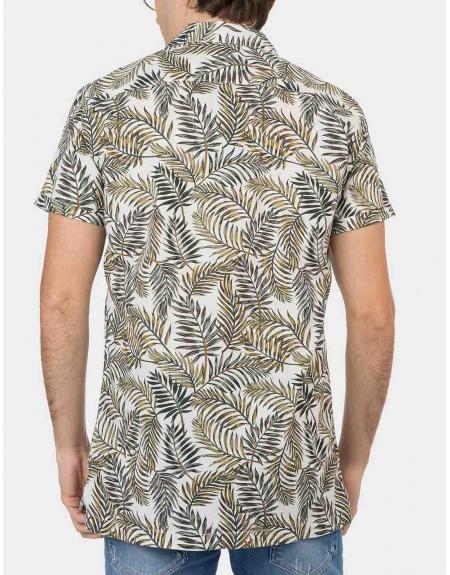 Camisa manga corta estampado tropical Tiffosi Lemars para hombre - Imagen 2