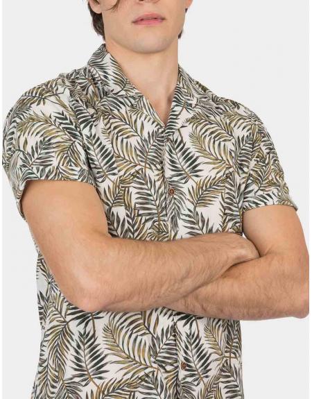 Camisa manga corta estampado tropical Tiffosi Lemars para hombre - Imagen 3