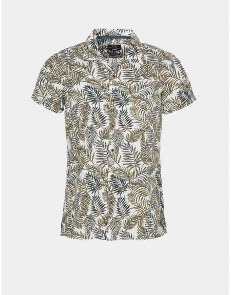 Camisa manga corta estampado tropical Tiffosi Lemars para hombre - Imagen 4
