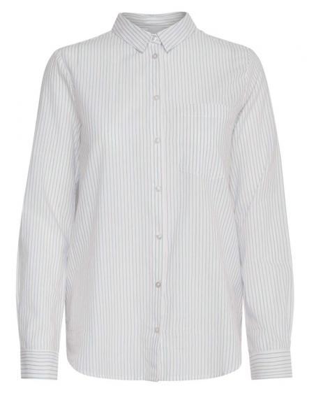 Camisa blanca Ichi Ihasilo de listas para mujer - Imagen 1