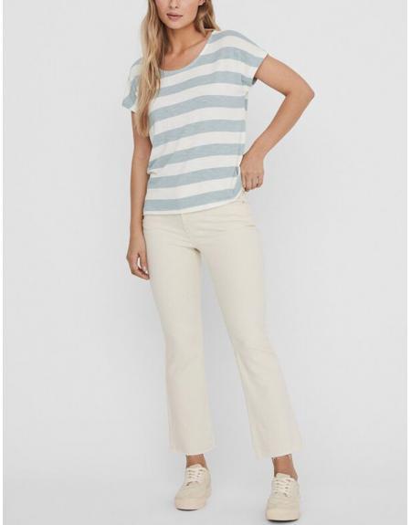 Camiseta manga corta listas VMWide para mujer - Imagen 6