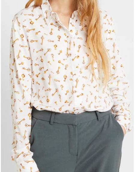 Camisa Byoung Byfriche print llave - Imagen 1