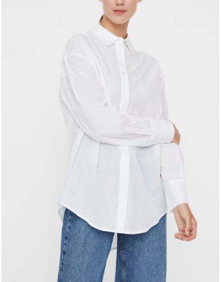 Camisa blanca Vero Moda VMIndia loose para mujer - Imagen 1