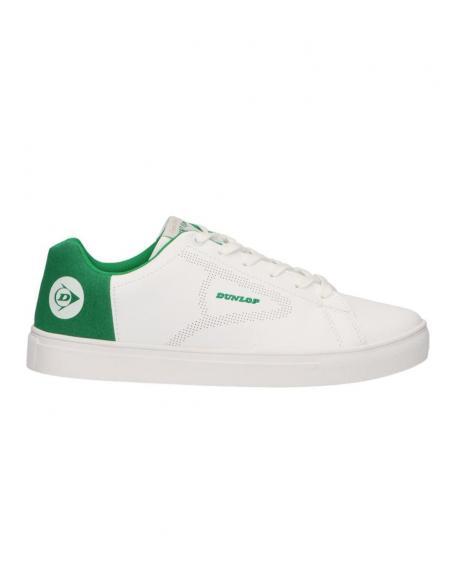 Deportivo blanco combinado anagrama parte trasera Dunlop para hombre - Imagen 5