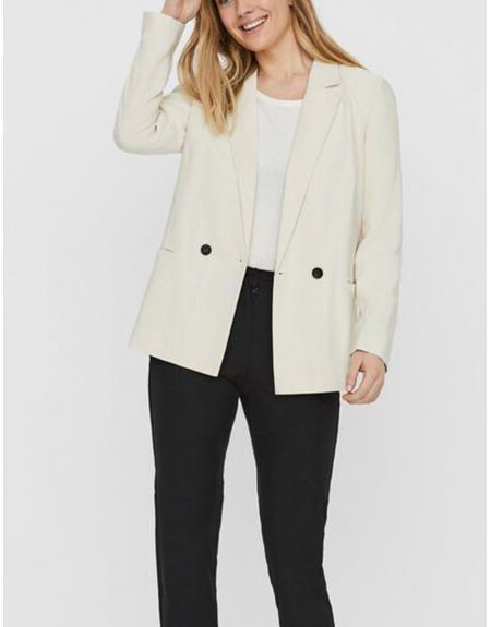 Blazer beige pinzas botones Vero Moda para mujer - Imagen 1
