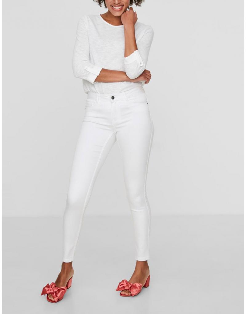 Pantalón Vero Moda Seven white shape up jeans - Imagen 7