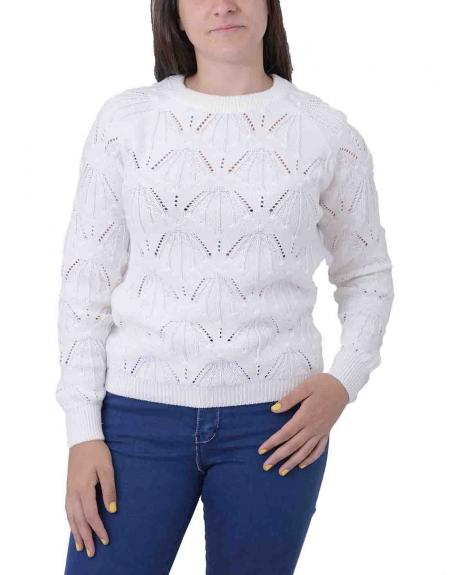 Jersey blanco calado Byoung Bymikala para mujer - Imagen 1