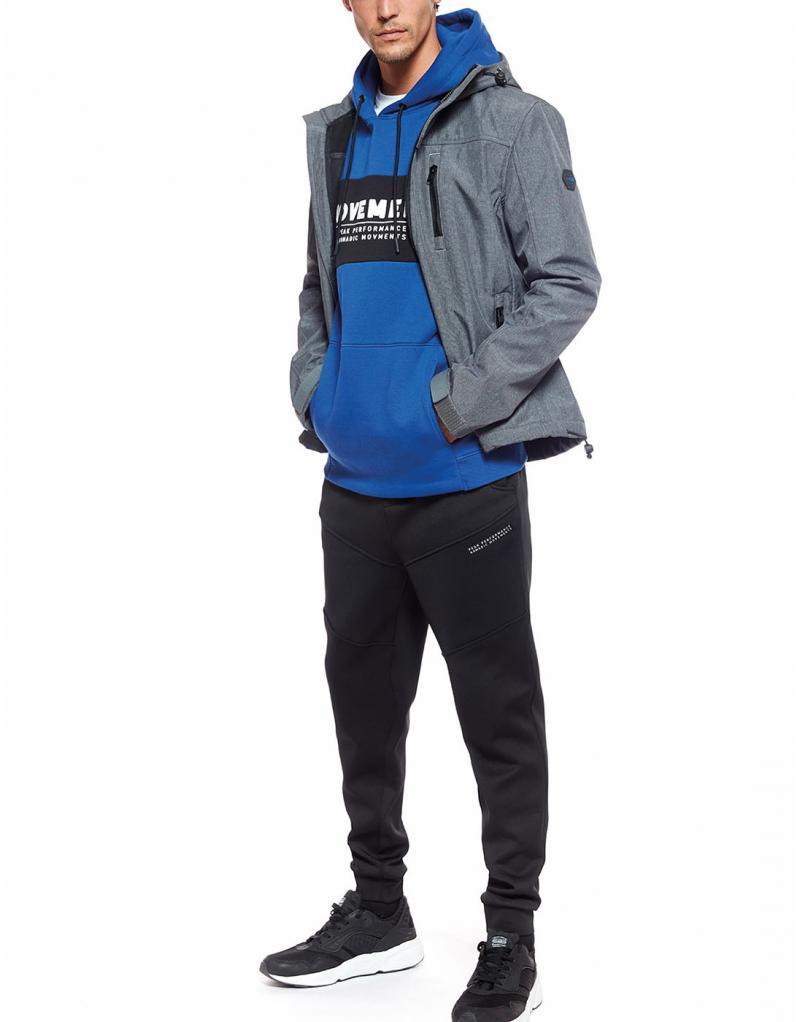Sudadera Losan azulon letras con capucha para hombre - Imagen 1