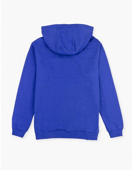 Sudadera Losan azulon letras con capucha para hombre - Imagen 3