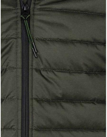 Cazadora verde Losan capucha bolsillos letras para hombre - Imagen 3