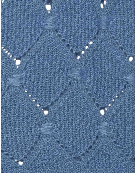 Jersey Ichi azul rombo calados para mujer - Imagen 7