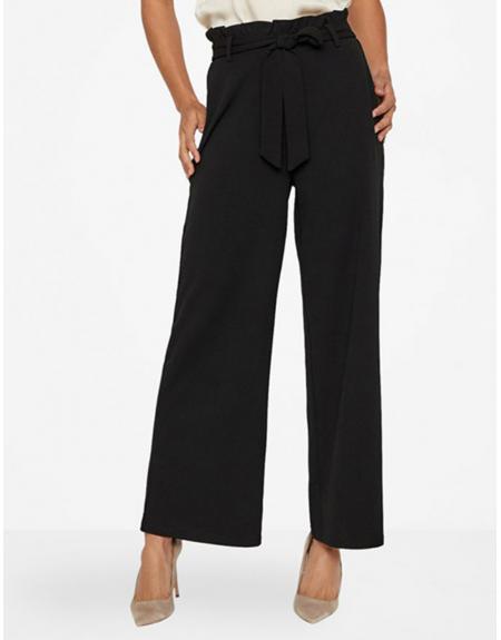 Pantalon Vero Moda ancho negro VMMila loose para mujer - Imagen 1
