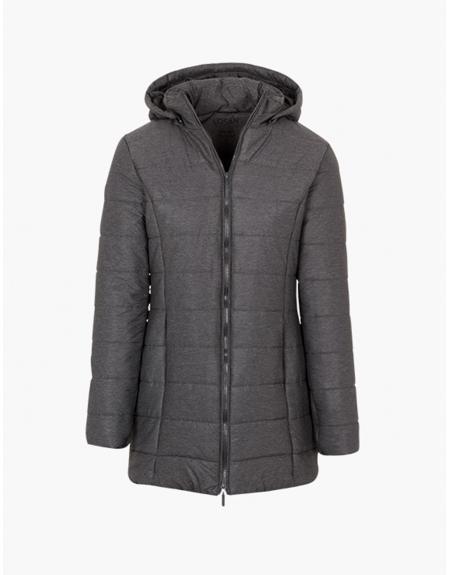 Parka gris Losan larga capucha  para mujer - Imagen 1