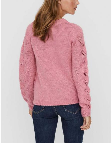 Jersey rosa Vero Moda Winnie mangas caladas para mujer - Imagen 3