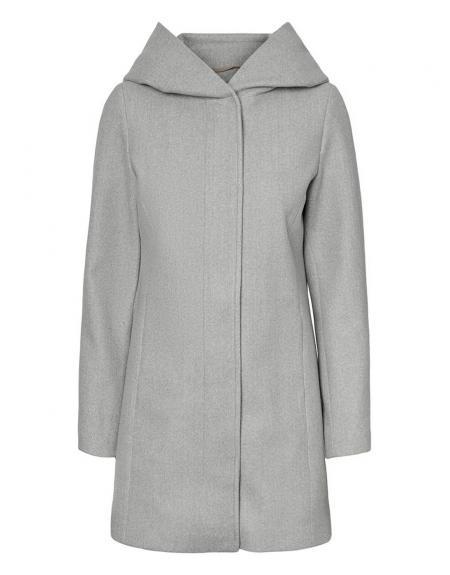 Abrigo gris Vero Moda Dafnedora con capucha para mujer - Imagen 10
