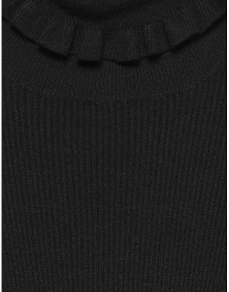 Jersey semicisne negro volantes Byoung Bynada para mujer - Imagen 8