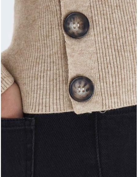 Jersey tostado botones laterales Byoung Nada para mujer - Imagen 8