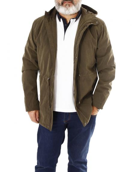Cazadora verde Losan con capucha para hombre - Imagen 4