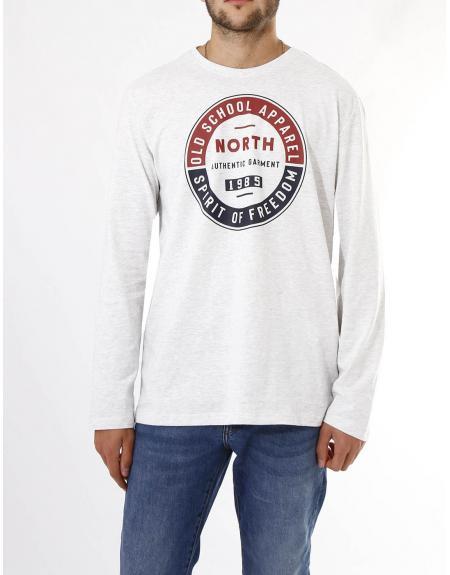 Camiseta estampado frontal North Losan para hombre - Imagen 1