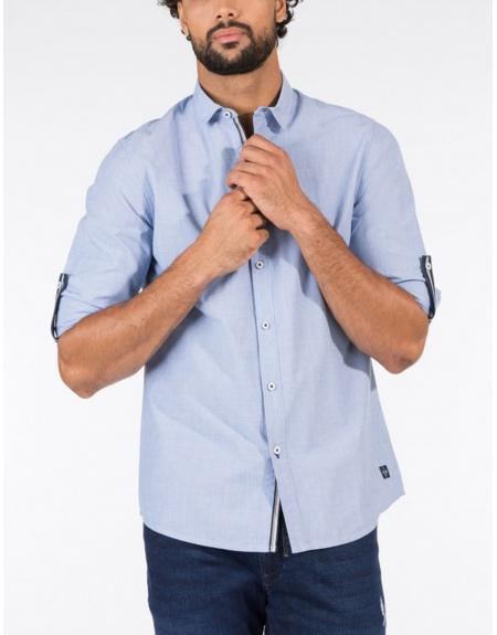 Camisa azul Tiffosi Charles para hombre - Imagen 1