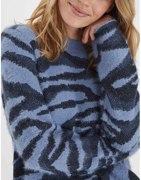 Jersey azul jaspeado Byoung Nolle para mujer - Imagen 3