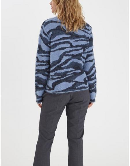Jersey azul jaspeado Byoung Nolle para mujer - Imagen 6