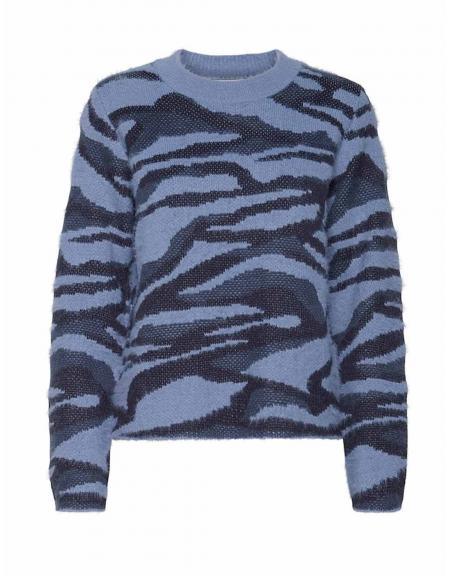 Jersey azul jaspeado Byoung Nolle para mujer - Imagen 7