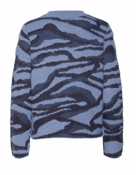 Jersey azul jaspeado Byoung Nolle para mujer - Imagen 8